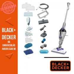BLACK & DECKER 1600 W gőzmop gőztisztító kesztyúvel, 11 tartozékkal