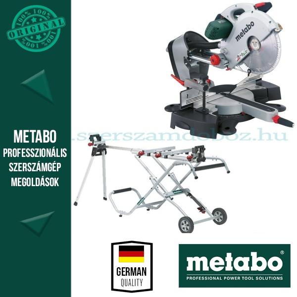 Metabo KGS 315 Plus Gérvágófűrész + KSU 250 Állvány