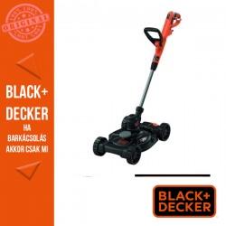 BLACK & DECKER Fűszegélyvágó 550W 30 cm, Powercommand-Gombnyomásos száladagolás + fűnyíró dekk 2 magasságállítással