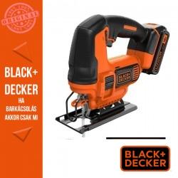 BLACK & DECKER BDCJS18-QW 18V Dekopírfűrész 2Ah akkumulátorral, 400mA töltővel