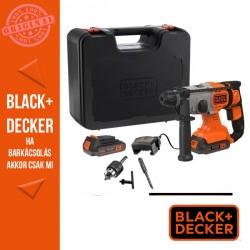 BLACK & DECKER BCD900E2K-QW 18 V-os, 2,5Ah-os SDS-Plus Kalapácsfúró készlet kofferben