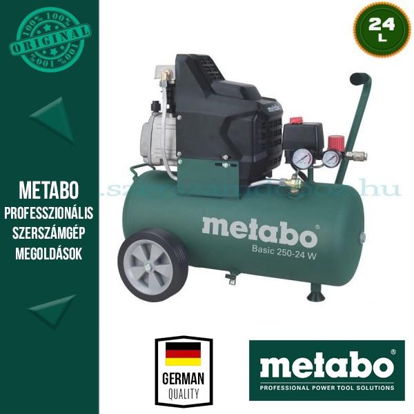 Metabo Basic 250-24 W Kompresszor + LPZ 4 Tartozék szett