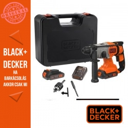 BLACK & DECKER BCD900M1K-QW 18V 1,2J SDS Fúrókalapács 4Ah Li-Ion akkuval, 2A töltővel, kofferben