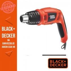 BLACK & DECKER 1600W hőlégfúvó elforítható fogantyúval, 2 hőfokozat