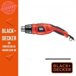 BLACK & DECKER 1800W hőlégfúvó elforítható fogantyúval, 3 hőfokozat, 6 tartozék, koffer