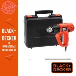 BLACK & DECKER 2000W hőlégfúvó, változtatható hőfokállítás + fúvókaszett, koffer