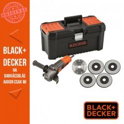 BLACK & DECKER 750W, 115mm sarokcsiszoló + koffer