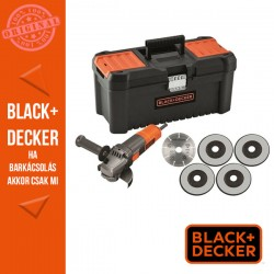 BLACK & DECKER 900W, 115mm Sarokcsiszoló + koffer