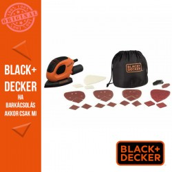 BLACK & DECKER 55W Mouse® dekorcsiszoló, 15  tartozék + koffer
