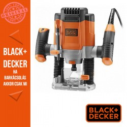 BLACK & DECKER 1200W, 55mm felsőmaró, tartozékokkal, marószárakkal kofferben