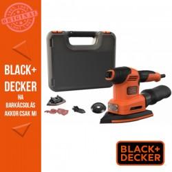 BLACK & DECKER 220W, 4 az 1-ben multicsiszoló (vibrációs csiszoló, excenter csiszoló, ujjcsiszoló) + koffer, tartozékok