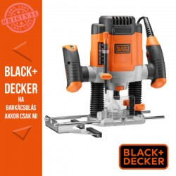 BLACK & DECKER 1200W, 55mm felsőmaró, tartozékokkal