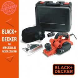 BLACK & DECKER 750W gyalu 0-2 mm. Késszélesség 82mm, falcmélység 8 mm tartozékokkal, kofferban.
