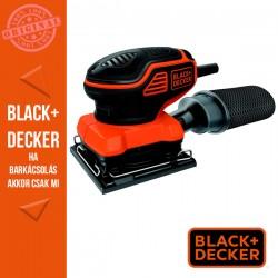 BLACK & DECKER 220W Tenyér kapcsolós negyedlap méretű vibrációs csiszoló