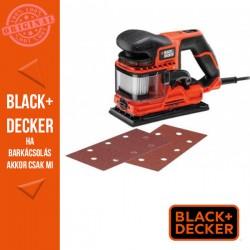 BLACK & DECKER Vibrációs csiszoló dupla ventillátor rendszerrel, 270W