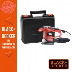 BLACK & DECKER 480 W excentercsiszoló, 125mm-es, csiszolópapírok, koffer