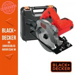 BLACK & DECKER 1250W, 66 mm körfűrész + koffer