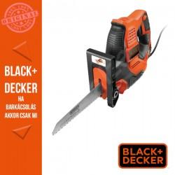 BLACK & DECKER 500W Scorpion® háromfunkciós elektromos kézifűrész Autoselect® technológiával, 3 fűrészlappal, kofferban