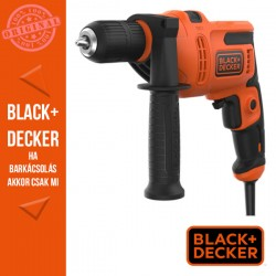 BLACK & DECKER 500W ütvefúró, jobb-bal forgásirány + koffer