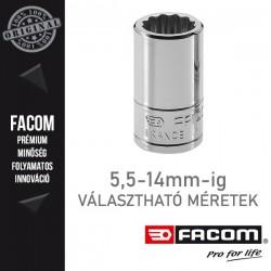 "FACOM Dugókulcsok, 1/4"", 12 lapú, metrikus méretek, 5,5-14 mm"