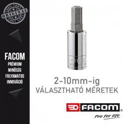 """FACOM Dugókulcsok cserélhető bitekkel, 6 lapú, 1/4"""", 2-10 mm"""