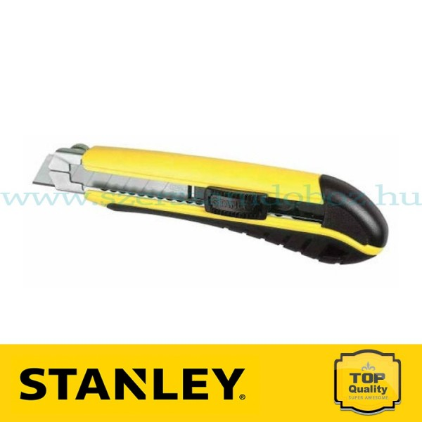 Stanley Műanyagházas törhető pengés kés fém pengeveztővel