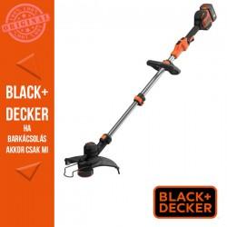 BLACK & DECKER 36V/2,5 Ah Li Ion akkus fűszegélyvágó, 33 cm vágási szélesség. Manuális, Powercommand száladagolás.2A töltővel