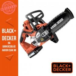 BLACK & DECKER 18V Li-ion 2.0Ah akkumulátoros láncfűrész, 20cm pajzshossz