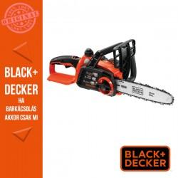 BLACK & DECKER 18V Li-ion 2.0Ah akkumulátoros láncfűrész, 25 cm pajzshossz, akku és töltő nélkül