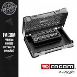 """FACOM Rövid Dugókulcs készlet praktikus dobozban, 6 lapú, 3/8"""", metrikus méretek - 17 db-os"""