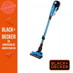 BLACK & DECKER 18V /2,0 Ah ( 36Wh) 3:1ben nyeles porszívó, kék Cyclonic action hármas szűrőrendszer