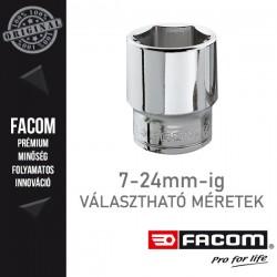 "FACOM Dugókulcsok, 3/8"", 6 lapú, metrikus méretek, 7-24mm"