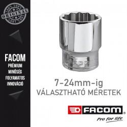 "FACOM Dugókulcsok, 3/8"", 12 lapú, metrikus méretek, 7-24mm"
