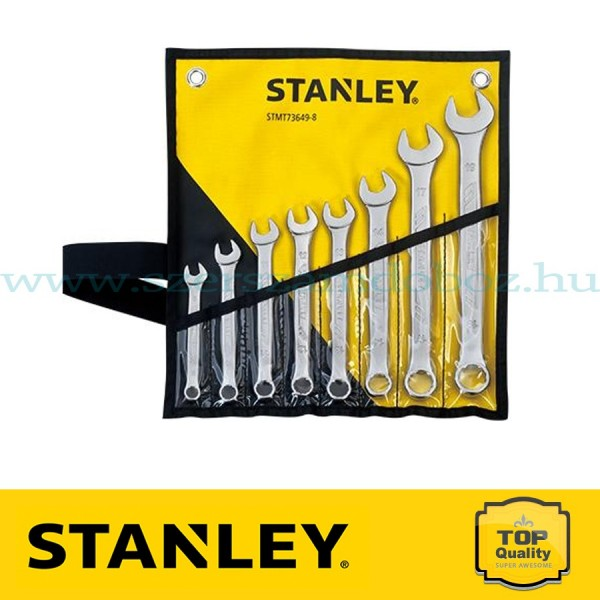 Stanley Csillag-villáskulcs készlet tartóban 8 részes