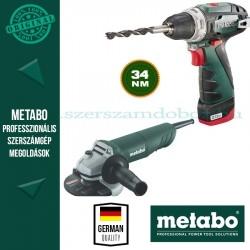 Metabo W 820-125 Sarokcsiszoló + BS PowerMaxx Fúró-csavarozó