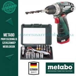 Metabo BS PowerMaxx Fúró-csavarozó + 26 részes tartozékkészlet