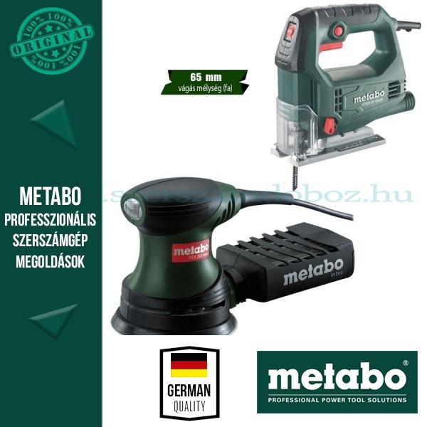 Metabo STEB 65 Quick Szúrófűrész + FSX 200 Intec Excentercsiszoló