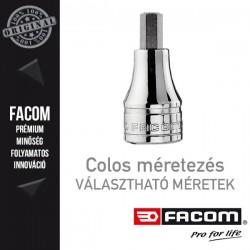 """FACOM Hatlapfejű bit dugókulcsok, 1/2"""", colos méretek"""
