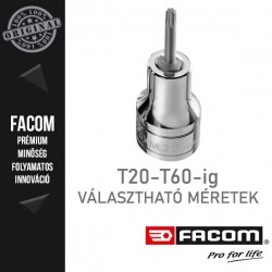 """FACOM Bit dugókulcsok, 1/2"""", TORX, T20-T60"""