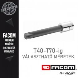 "FACOM Hosszú Bit dugókulcsok, 1/2"", TORX, T40-T70"