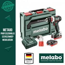 METABO PowerMaxx BS 12 BL Q Pro Akkus fúrócsavarozó gépcsomag (2x 12 V/4,0 Ah akkuval és töltővel)