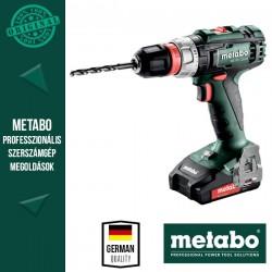 METABO BS 18 L QUICK Akkus Fúrócsavarozó metaBOX kofferben (2x 18 V/2,0 Ah akkuval és töltővel)