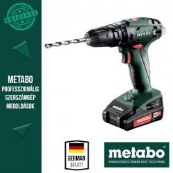 METABO SB 18 Akkus Ütvefúró-csavarbehajtó metaBOX kofferben (2x 18 V/2,0 Ah akkuval és töltővel)