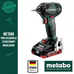 METABO SSD 18 LTX 200 BL Akkus Ütvefúrócsavarozó metaBOX kofferben (2x 18 V/4,0 Ah akkuval és töltővel)