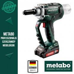 METABO NP 18 LTX BL 5.0 Akkus Popszegecshúzó pisztoly metaBOX kofferben (2x 18 V/2,0 Ah akkuval és töltővel)