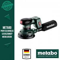 METABO SXA 18 LTX 125 BL Akkus Excentercsiszoló metaBOX kofferben, alapgép