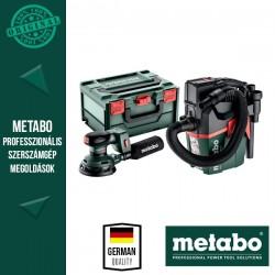 METABO SET SXA 18 LTX 125 BL + AS 18 L PC COMPACT Akkus Excentercsiszoló és porszívó gépcsomag (akku és töltő nélkül)