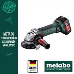 METABO W 18 LTX 125 QUICK Akkus Sarokcsiszoló metaBOX kofferben (2x 18 V/4,0 Ah akkuval és töltővel)