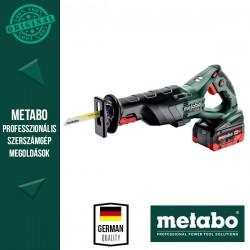 METABO SSE 18 LTX BL Akkus Kardfűrész műanyag hordtáskában (2x 18 V/8,0 Ah akkuval és töltővel)