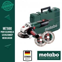 METABO W 9-125 QUICK SET Sarokcsiszoló kofferben, 125 mm, 900 W